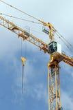Basztowego żurawia elementy na placu budowy Fotografia Stock