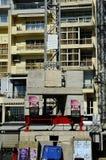 Basztowy żuraw i swój betonowy balast zdjęcia royalty free