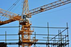 Basztowy żuraw w budowie zdjęcie royalty free