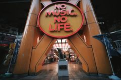 basztowy dokumentacyjny shibuya, Żadny muzyka na życiu zdjęcia royalty free