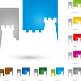 Basztowy kasztel barwiący grodowy nieruchomość logo Fotografia Stock