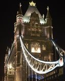 Basztowy most przy nocą. Londyn. Anglia Zdjęcie Royalty Free