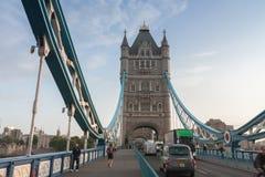 Basztowy most w ranku, Londyn, Anglia Obraz Royalty Free