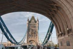 Basztowy most w ranku, Londyn, Anglia Obrazy Royalty Free