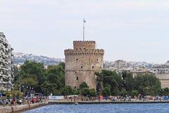 basztowy Thessaloniki biel Zdjęcia Stock