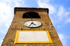 Basztowy zegar Castelvetro Zdjęcie Stock