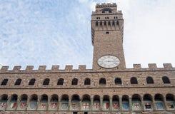 Basztowy zegar na wierza w Rimini, Włochy Obrazy Stock