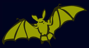 Bat. Flying bat illustration with details royalty free illustration