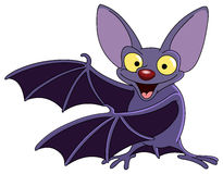 Bat. Cartoon bat presenting with his wings Stock Photo