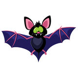 Bat. Gartoon goofy bat isolated on white. Vector illustration Stock Image