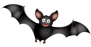 Bat. Illustration of cartoon-bat isolated on white Stock Image