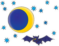Bat. Isolated clip-art and children's illustration for yours design, postcard, album, cover, scrapbook, etc Royalty Free Stock Photography