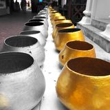 Bat (The alms bowl used by monks to receive donations) Royalty Free Stock Image