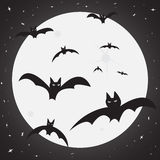 Bat Attack.eps. Bats out in the moonlight Stock Image