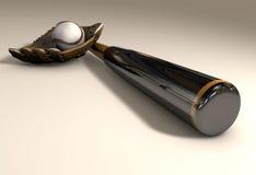 Bat and ball. 3d models of baseball equipment Stock Image