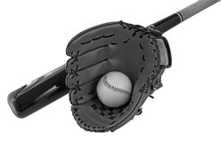 Bat, ball and glove Royalty Free Stock Photo