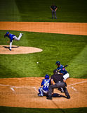 At bat in baseball game Stock Images