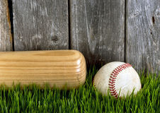 Bat and Baseball. Stock Photography