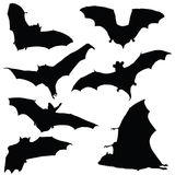 Bat black silhouette illustration Royalty Free Stock Image