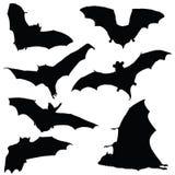 Bat black silhouette illustration. On white background vector illustration