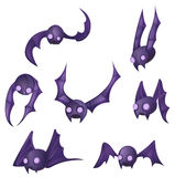 Bat Cartoon Design Element Set Stock Photos
