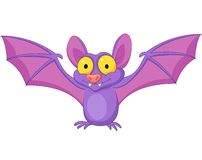 Bat cartoon flying Royalty Free Stock Image