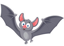 Bat cartoon flying. Illustration of Bat cartoon flying Royalty Free Stock Photos