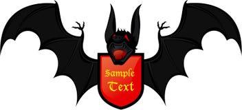 Bat coat of arms Royalty Free Stock Photos