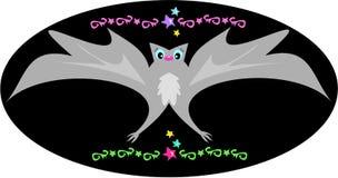 'bat' décorative avec des étoiles et des conceptions de tatouage illustration libre de droits