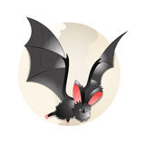 'bat' de vol illustration stock
