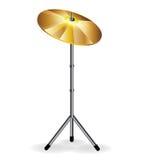 Bat du tambour du concept avec des cymbales illustration de vecteur
