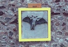 Bat engraving Stock Images