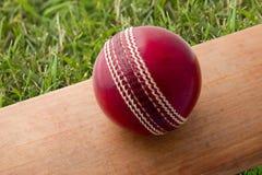 'bat' et bille de cricket Image libre de droits