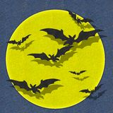 Bat fly halloween fabric recycle Royalty Free Stock Images