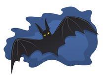 Bat flying in the night sky royalty free illustration