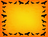 Bat Frame. Bat silhouette on mesh gradient background with grunge background effect Stock Photography