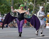 Bat girl Stock Images
