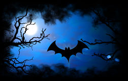 Bat Halloween background Stock Image