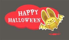Bat and halloween. Halloween Bat Vector illustration. Halloween background with bat Stock Images