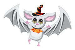 Bat halloween hat on a white background. Vector Stock Photo