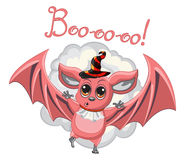 Bat halloween hat on a white background. Vector Stock Photos