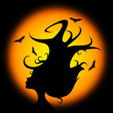 Bat Halloween Represents Trick Or Treat And Animal Royalty Free Stock Photos