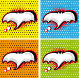 Bat Halloween Speech Bubble in Pop-Art Style backgrounds set. Mouse symbol Royalty Free Stock Image
