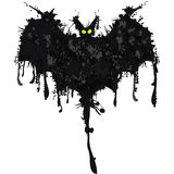 Bat. Happy Halloween card. Vector illustration Stock Image