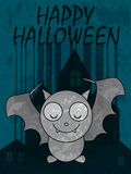 Bat Happy Halloween_eps Royalty Free Stock Images