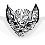 Bat head vector animal illustration for t-shirt Stock Images