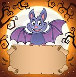 Bat holding parchment image 2 Royalty Free Illustration