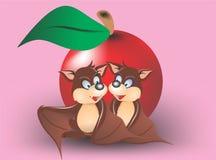 Bat honeymoon 2. Cartoon character bat for t-shirt ,sticker,etc royalty free illustration