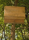 Bat house. Nailed to a tree to help control mosquitos Stock Image