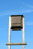 Bat house. A bat house against blue sky Royalty Free Stock Photo